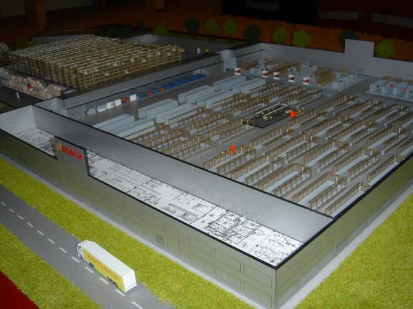 Bosch gyártelep 1:100