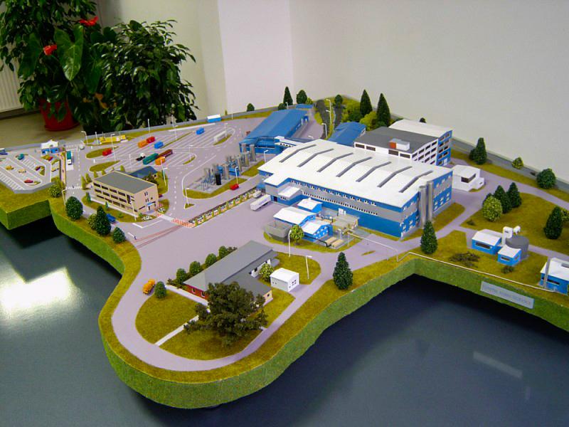 Unilever Gyártelep Nyírbátor 1:200 Épületmakett