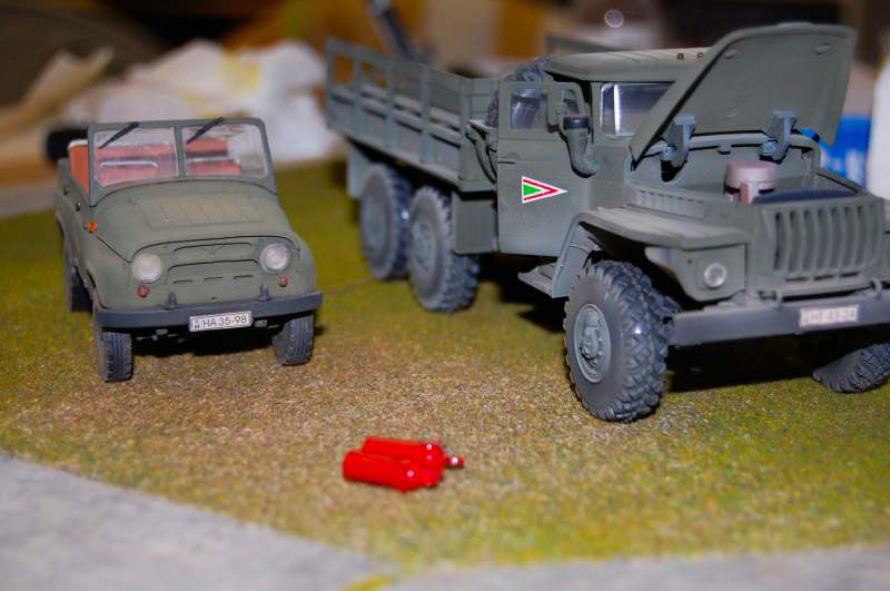 Katonai jármű makett