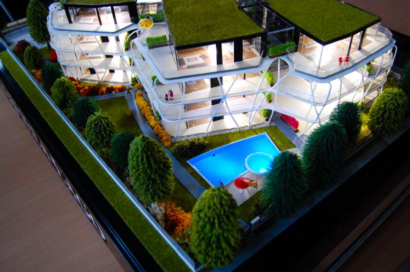 Villa Lago Épületmakett