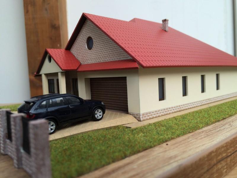 Családi ház makett