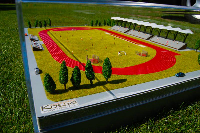 Türkmenisztán Sportpálya Makett