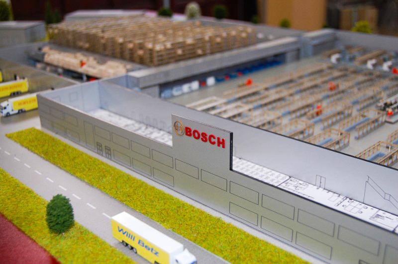 Bosch Miskolci Gyártelep Épületmakett